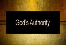 Photo of Authority of God